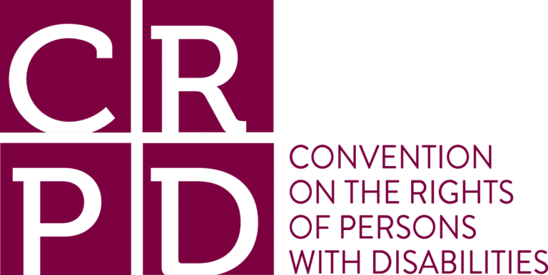Logo av Konvensjonen på rettighetene til personer med funksjonsnedsettelser.