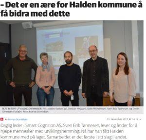 avsnitt av Halden Arbeiderblad som beskriver at det er en ære for halden kommune å få bidra med Aktiv fritid prosjektet.
